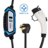 BougeRV Level 2 EV Charger (240V, 32A, 25FT) Portable EV Charging Cable EVSE Electric Vehicle Charger with NEMA 14-50P