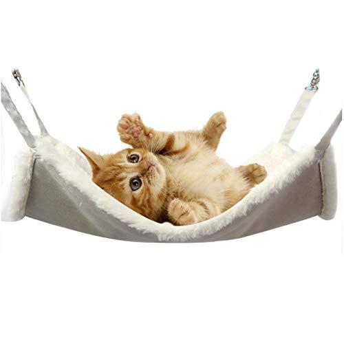Kitabetty Haustierkäfig-Hängematte, Ajustable hängende weiche Haustier-Bett-Haustier-Katze-warme Schlafenhängematte, umschaltbare 2 Seiten-verwendbare Haustier-hängende Bett-weiche schläfrige Auflage
