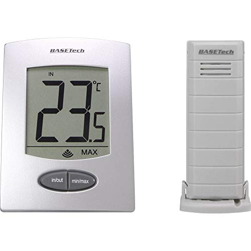 Basetech WS-9008-IT Thermometer Silber