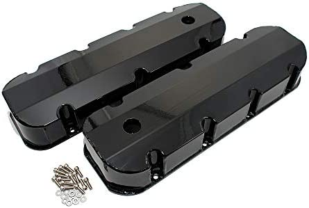 396 402 427 502 Assault Racing Products V4101 BBC Chevy 454 Polished Fabricated Aluminum Long Bolt Valve Covers