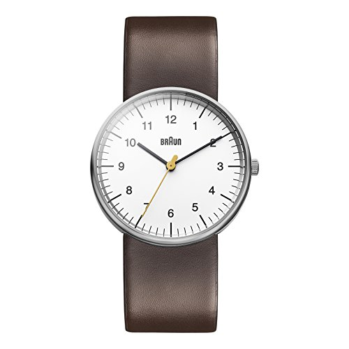 Braun Men's BN0021WHBRG Classic Analog Display Japanese Quartz Brown...