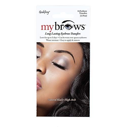 Godefroy MyBrows Long Lasting Eyebrow Transfers, High Arch, Natural...