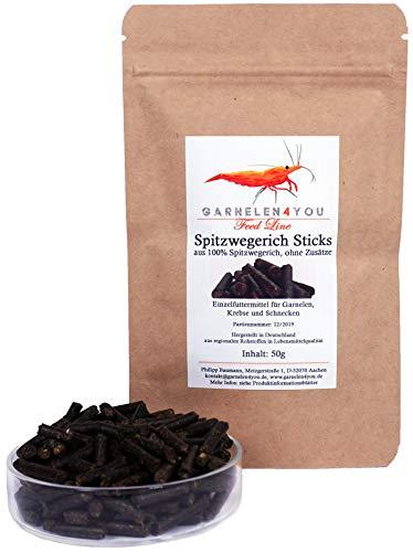 GARNELEN4YOU® Granulés de nourriture de qualité supérieure - 50 g - Pour nourrir de manière détendue les habitants de l'aquarium comme les crevettes, les crabes et les escargots (1 x 50 g)