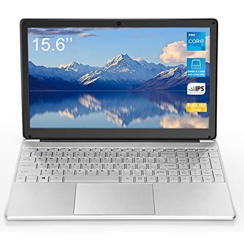 Laptop da 15,6 pollici (Intel Celeron J3455 64 bit, 8 GB di RAM DDR4, SSD da 128 GB, batteria da 10000 mAH, webcam HD, sistema operativo Windows 10 Pro preinstallato, display IPS FHD 1920 * 1080)