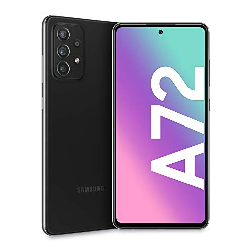 Samsung Galaxy A72 Smartphone, Display Infinity-O FHD+ da 6,7 pollici, 6 GB RAM e 128 GB di memoria interna espandibile, Batteria 5.000 mAh e ricarica Ultra-Rapida Black [Versione Italiana]