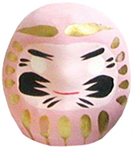 Miniatur Daruma Puppe (Japanische Glücksbringer Charm), rose