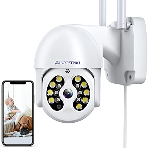 Security Cameras AIBOOSTPRO 1296p HD Security Cameras Indoor/Outdoor Wireless Pan Tilt 360° View WiFi Home Security Camera System Motion Detection,...