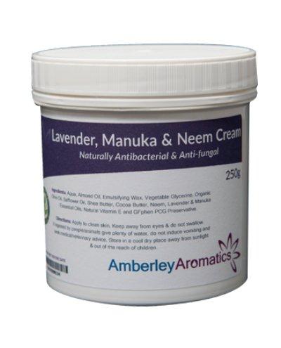 Amberley Aromatics Lavender, Manuka & Neem Cream 250g - Antibacterial & Anti-fungal Skin Cream