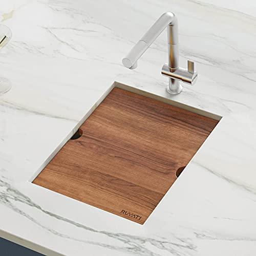 Ruvati 15-inch Workstation Bar Prep Sink Ledge Undermount 16 Gauge Stainless Steel Single Bowl