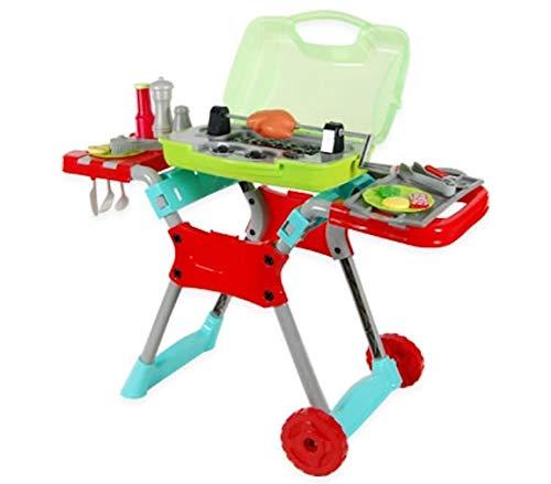 Inside Out Toys Set da Barbecue per Bambini - BBQ Giocattolo con luci e Suoni - Rosso