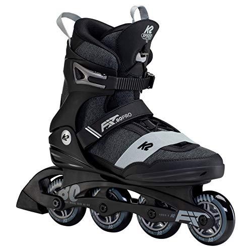 K2 Skates Herren Inline Skate F.I.T. 80 PRO — Black - Gray — EU: 42 (UK: 8 / US: 9) — 30F0143