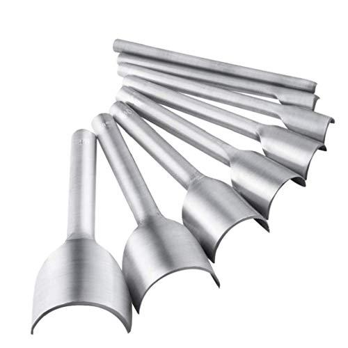 TOPofly erhandarbeitsprodukte Werkzeug Halbrundschneider Schlags Set 5-40 mm für Crafting-Bügel-Gurt-DIY Handarbeit Projekt 8 PC-Handbuch Verwenden Werkzeuge