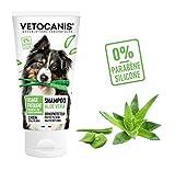 VETOCANIS Shampoing Usage Fréquent pour Chien, 0% de Parabène 0% de Silicone, à l'Aloe Vera, Format 300ML