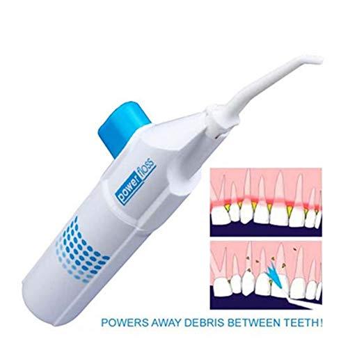 Portable Jet Floss reinigt Zahnspangen, Implantate und Kronen Akku-Wasserflosser Sanfte Zahnseide Keine Elektrizität oder Batterien erforderlich Hand-Munddusche