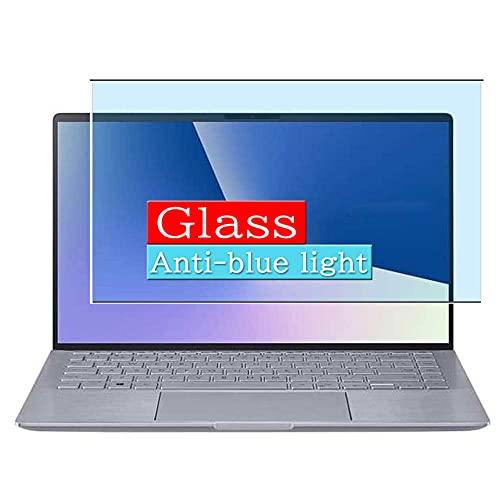 VacFun Filtro Luz Azul Vidrio Templado Protector de Pantalla, compatible con Asus ZenBook 14 UM433IQ 14' Visible Area Cristal Screen Protector(cobertura no completa)