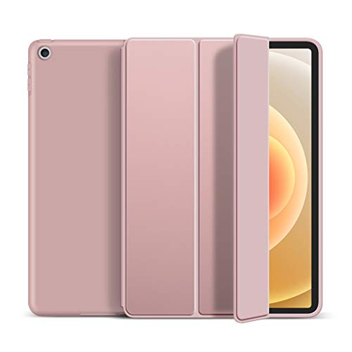 DSHBB Case for iPad 10.2 Inch 2020/2019,TPU Soft Smart Cover,Auto Wake/Sleep,Trifold Stand,Lightweight Stand Protective Case for iPad 8th Generation/iPad 7th Generation,Rose gold