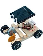 TOYANDONA DIY Ciencia Juguetes Conjunto de Vástago Coche con Energía Solar Modelo de Madera Kit Proyectos Ciencia Experimento Construcción Juguetes Juguete Educativo para Niños