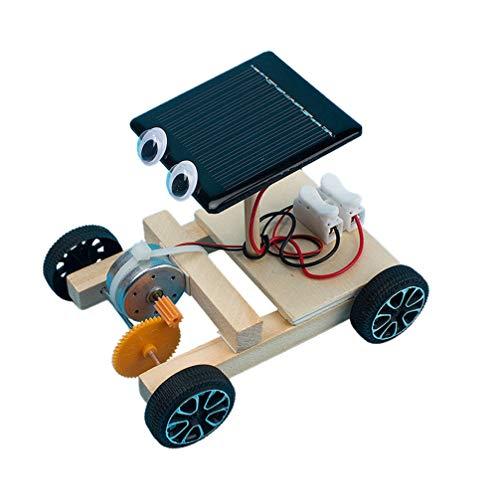 TOYANDONA Juguetes de ciencia para montar en el tallo del coche, con energía solar, kit de modelo, de madera, para experimentos científicos, juguetes de construcción, juguete educativo para niños