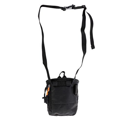 sharplace Cuboid wasserabweisend Nylon Klettern Kreide Puder Tasche mit seitlichen Reißverschluss Tasche & verstellbare Taille Gürtel & Kordel zum Zuziehen für Climber Klettern Bouldern Gym Lifting