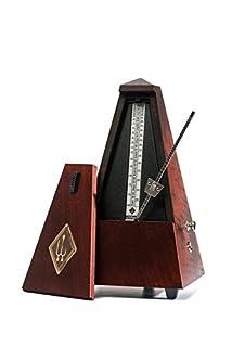 scheda wittner 903800 metronomo forma piramidale cassa legno colore mogano opaco