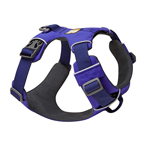 RUFFWEAR, Front Range Dog Harness, Reflective and Padded Harness for Training and Everyday, Huckleberry Blue, Medium