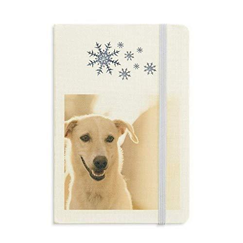 Smile White Dog Pet - Cuaderno de fotos para perros (grueso), diseño de copos de nieve