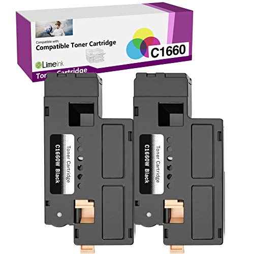 Limeink 2 Black Compatible High Yield Laser Toner Cartridges Replacement for Dell C1660 4G9HP Compatible with Dell C1660, C1660W, C1660cnw, 1660, 1660W, 1660cnw Printers