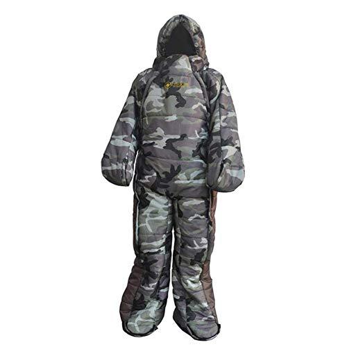 Funnyfeng slaapzak, mouwen, slaapzak, volwassenen, met voeten, benen, armen, accessoire voor kamperen buiten, M, L, XL