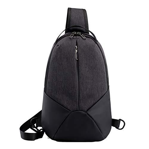Yi-xir Bolso de hombro con diseño de moda para hombre, ligero y duradero (color: negro, tamaño: A)
