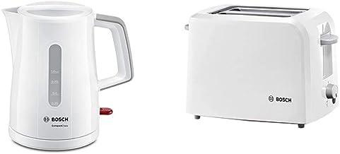 Bosch compactClass tWK3A051 bouilloire 2400 w, max. 1 l, filtre anti-calcaire amovible blanc/gris clair & Bosch Electromén...