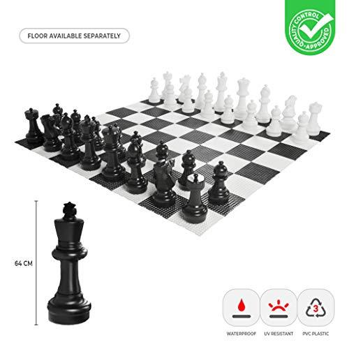 Übergames Giga Schach Figuren aus hochwertigem, wetterbeständigem, UV-beständigem Kunststoff