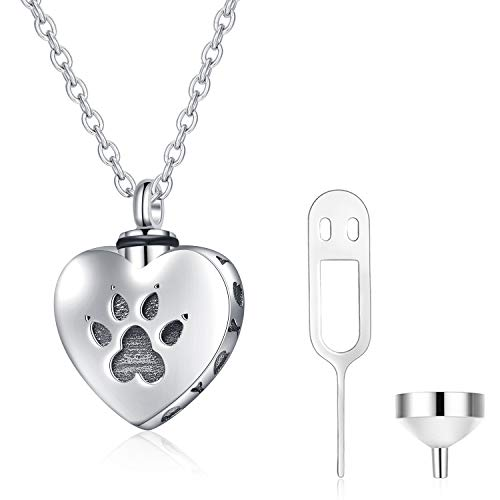 WINNICACA Pet Urn Keepsake Necklace Sterling...