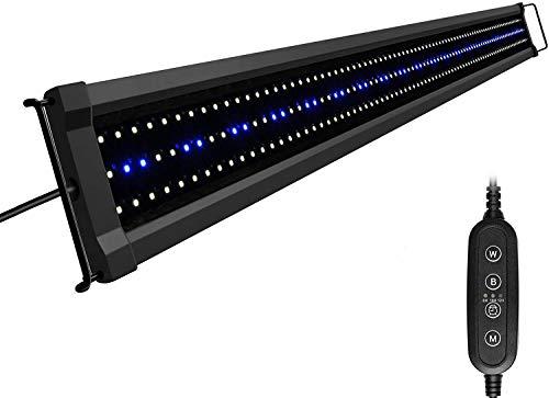 NICREW ClassicLED G2 Lampada Acquario, Plafoniera LED per Acquario, Luce Acquario Impermeabile con 2 Canali di Controllo, Luci Bianche e Blu, 120-150 cm, 40W 3080LM