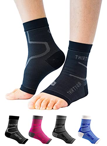 Thirty48 Plantar Fasciitis Socks, 20-30 mmHg Foot Compression Sleeves for Ankle/Heel Support, Increasing Blood Circulation, Relieving Arch Pain,...