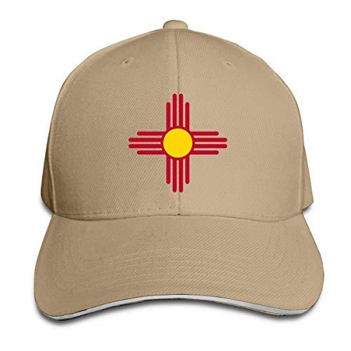 Odelia Palmer Gorras de béisbol para Adultos Bandera del Estado de Nuevo México Gorra Tipo sándwich Ajustable Personalizada Casquette Sombreros CBH-136