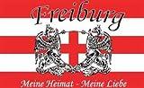 Freiburg Meine Heimat meine Liebe Fussball Fahne Flagge Grösse 1,50x0,90m - FRIP –Versand®