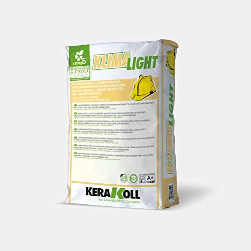 Kerakoll Klima Light - Bianco 20 Kg Adesivo E Rasante Alleggerito Per Pannelli Cappotto