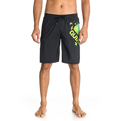 Quiksilver Mtnwavelogovl19 M Jamv Kvj6 Shorts, Hombre, Negro/Negro, DE: Small