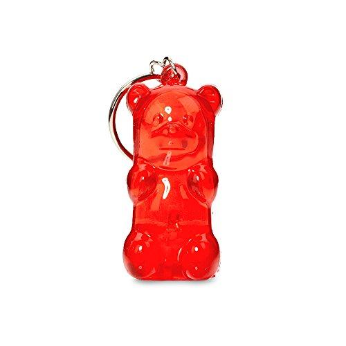 Gummygoods Bite-Sized Gummy Bear Keychain Kids Nightlight, LED light, Battery Included, (Red)