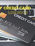 credit card log book: Debit & Credit Card Log, Credit Card Journal, Mini Credit Card Log, Track Your Own Credit Cards (100 pages, 8.5 x 11 inches)