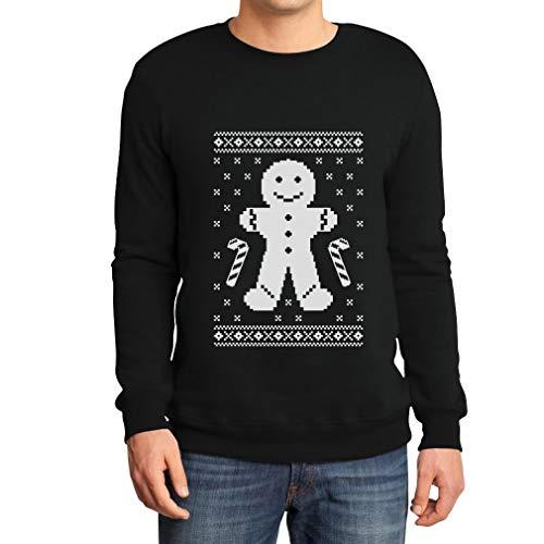 Lebkuchenmann Pfefferkuchen Lustiges Sweatshirt Large Schwarz
