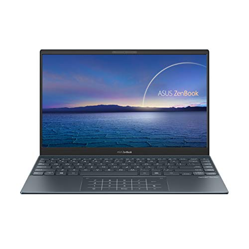 "ASUS ZenBook 13 OLED Ultra-Slim Laptop, 13.3"" OLED FHD Display, Intel Core i7-1165G7, 16GB RAM, 1TB SSD, NumberPad, Thunderbolt 4, Windows 10 Home, AI Noise-Cancellation, Pine Grey, UX325EA-AH77"