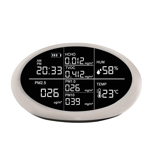 W-L PM2.5 Cubierta formaldehído Sensor Medidor Analizador de Calidad del Aire (HCHO) COVT Analizador de Gas del Monitor del Detector Monitor de Calidad del Aire