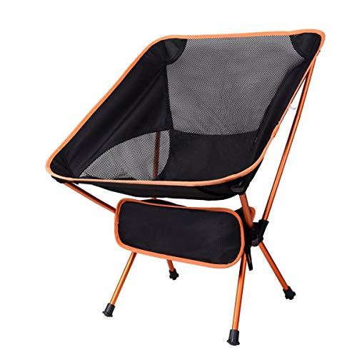 Silla de camping plegable, ligera y portátil, silla plegable al aire libre con bolsa de transporte para camping, senderismo, picnic, pesca, montaña, playa, parque y así sucesivamente.