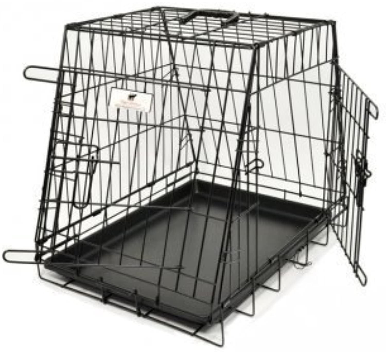 Doggie Solutions 2 Door Metal Dog Car Crate (Medium)