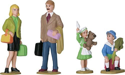 LGB Figurenset Familie – L53004, 4X Figuren für Modelleisenbahn, 1:22.5, bemalt, Erwachsene, Kinder, Dekoration, Anlagenbau, Spur G
