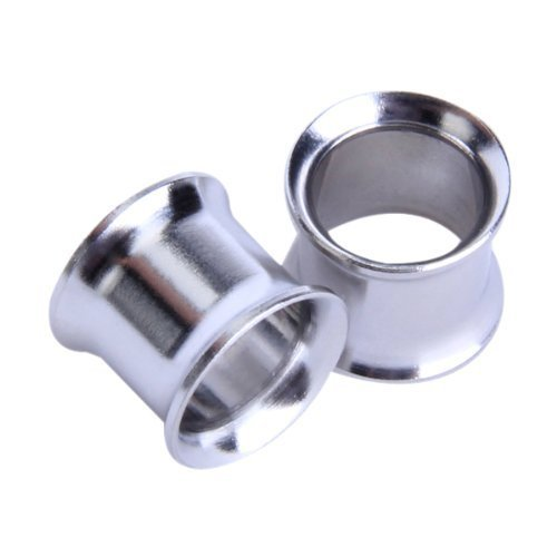 Omeny 2pezzi in acciaio INOX dilatatore tunnel Ear Plug