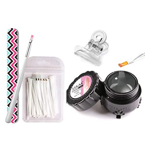 Daxerg glasvezel, doe-het-zelf manicure salon tool set met lijm borstel