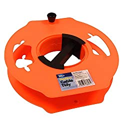 MANAGE CABLE REELS BETTER: The cable organizer is suitable for storing almost all types of cables, ranging from basic ropes to extension leads and camping cords. The cable manager promises a tangle-free experience, ensuring your cable management is s...