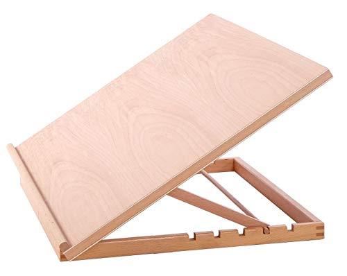 Quickdraw Supporto da scrivania regolabile in legno, per disegno, postazione di lavoro per artigianato, dimensione A2 Rosa